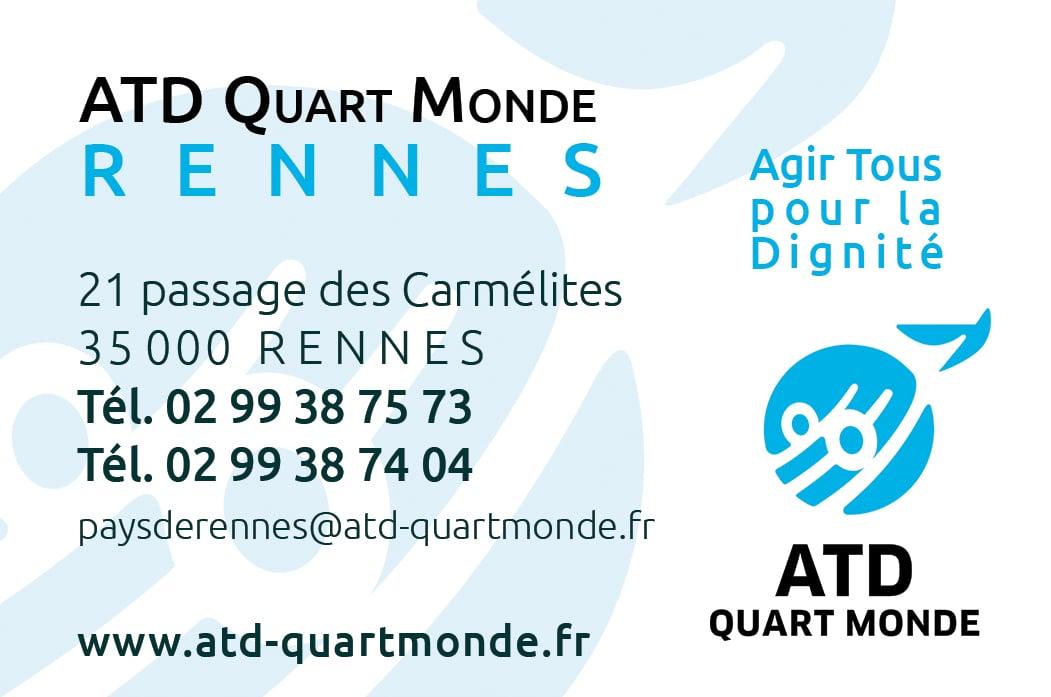 Carte De Visite La Maison ATD Quart Monde Rennes Lassociation